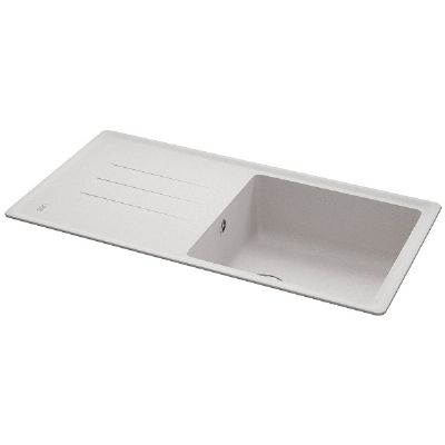 CARRON PHOENIX DEBUT 105 INSET POLAR WHITE GRANITE SINK, 105